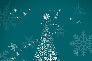 Christmas tree green vector