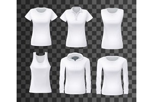 Female shirt or top clothes mockup