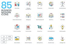85 Modern Business Icons by  in Icons