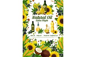 Natural oil product poster
