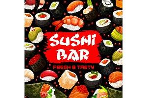Sushi bar, Japanese cuisine seafood