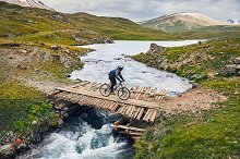 Mountain bike rider by  in Nature