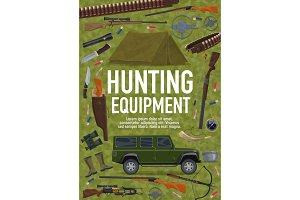 Hunting sport equipment, weapon