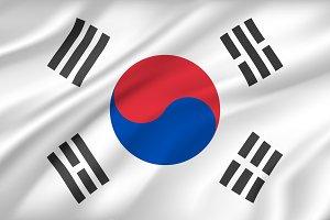 Flag of South Korea background