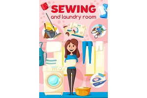 Sewing and laundry, dry cleaner
