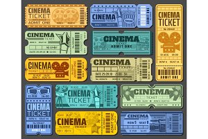 Cinema tickets, movie show