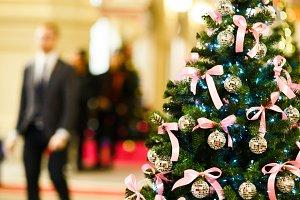 Image of Christmas tree with balls