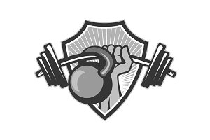 Hand Lifting Barbell Kettlebell Cres