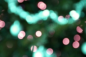 Holiday background in colorful light