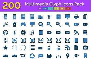 200 Multimedia Glyph Color