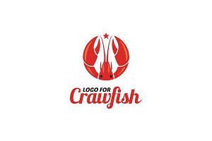 Crawfish Shrimp Lobster Seafood Logo