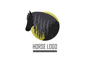 Draft Horse Vector Illustration in