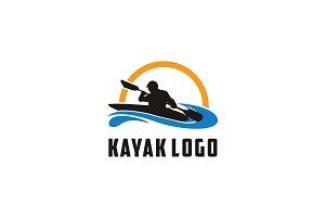 Simple Modern Kayak logo design