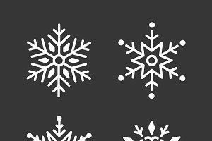 Snowflakes christmas design vector