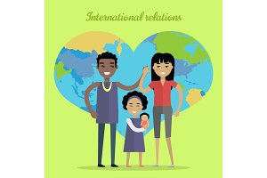 International Relations Flat Design