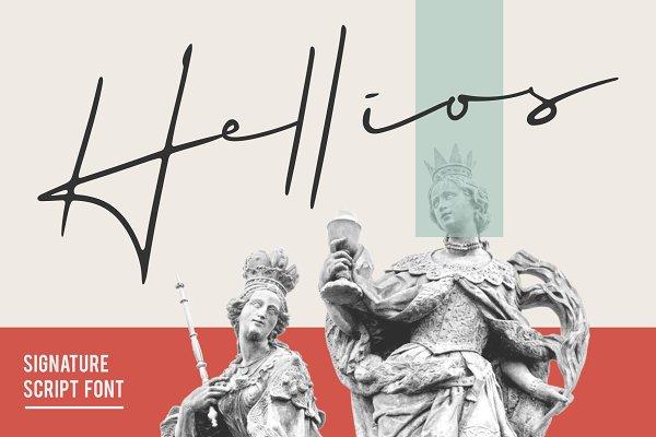 Script Fonts: vastard - Hellios Signature Font