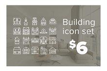 Building icon set - $12