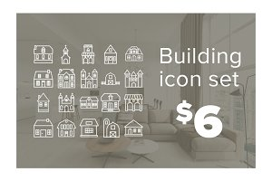 Building icon set - $12