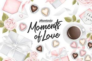 Pastel Valentines Clipart