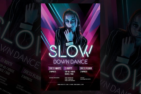 Dance Flyer Flyer Templates Creative Market