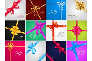 Vector Bow. Gift. Collection of