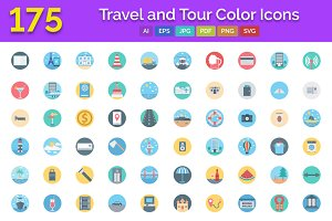 175 Travel & Tour Color Icons