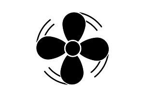 Air ventilation glyph icon