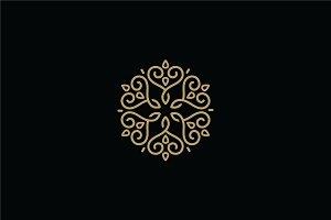 Elegant Star & Heart Mandala Logo