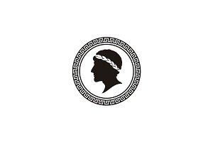Ancient Greek Figure Coin logo