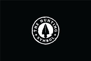 Hipster Rustic Hunting Stamp Logo