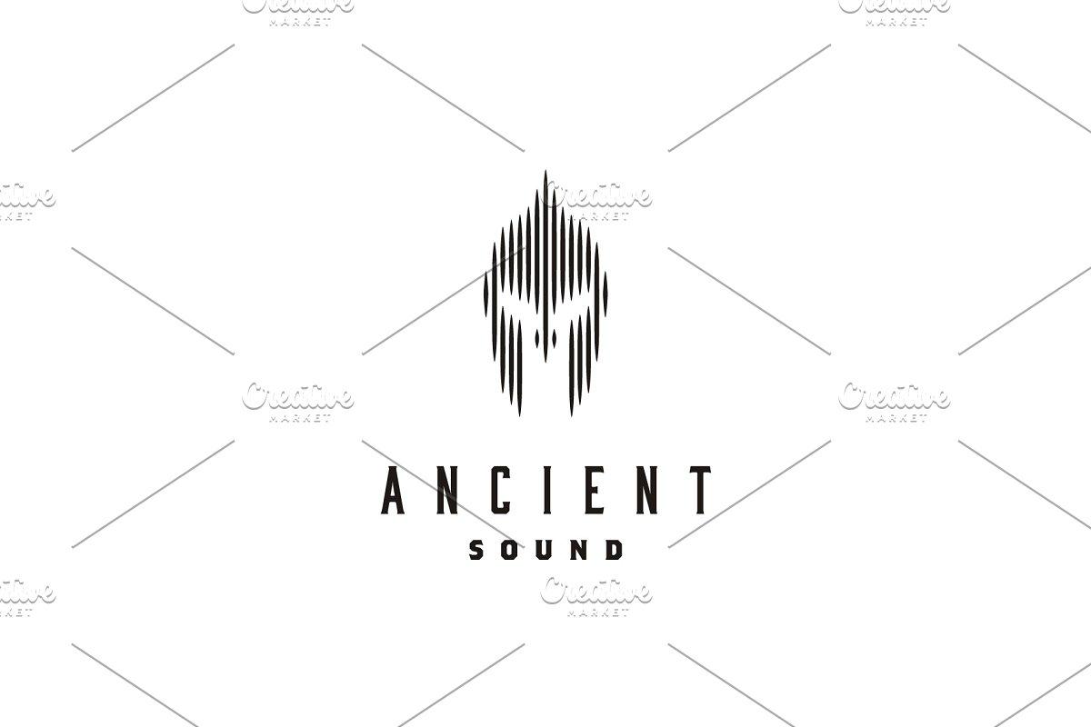 Spartan Helmet Digital Sound Logo Logo Templates Creative Market