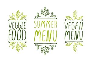 Summer Menu - Hand-sketched elements