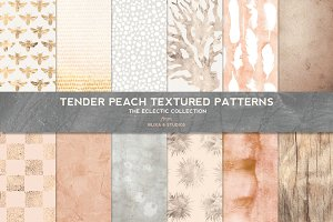 Tender Peach & Gold Texture Patterns