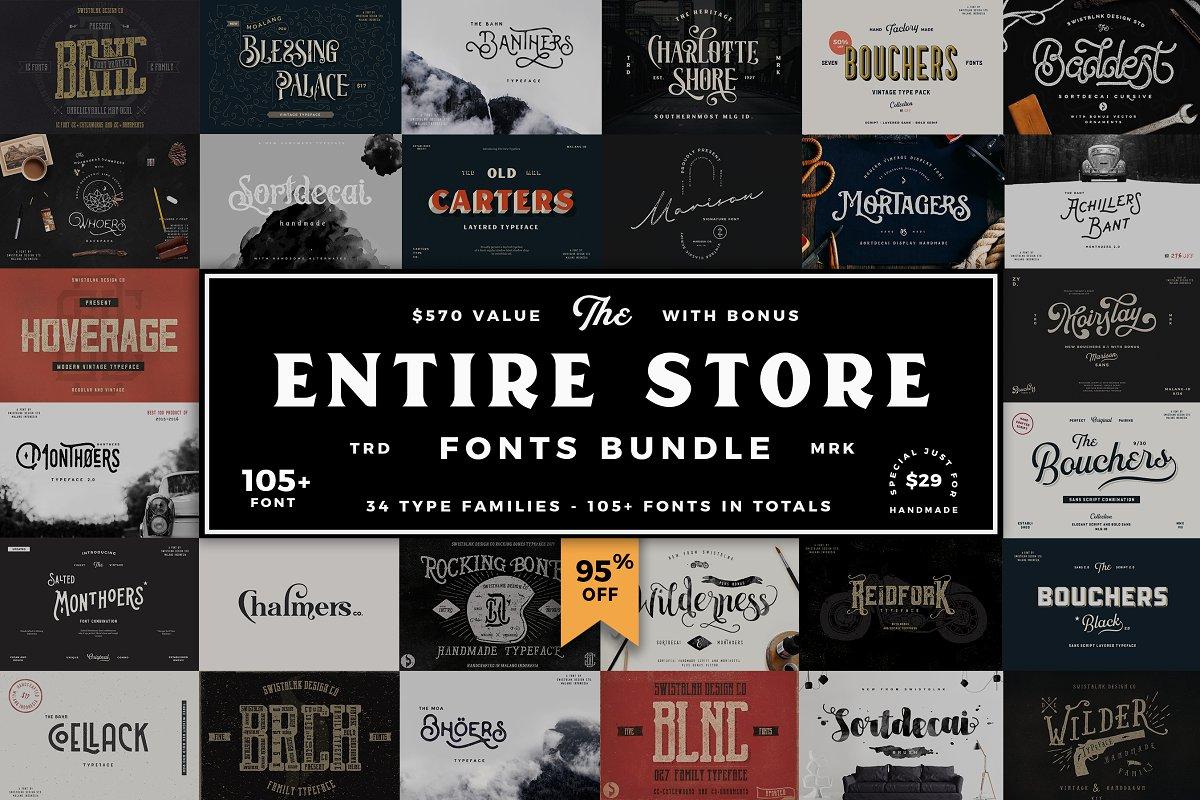 Entire Store Bundle - 105+ Fonts