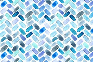 Watercolor herringbone seamless patt