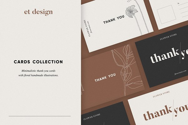 Card Templates: et design - Thank-you Cards Collection