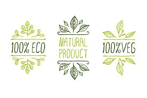 Natural Product Set- Hand-sketched