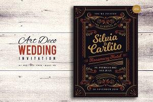 Art Deco Wedding Invitation 3
