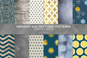 Midnight Sun Gold & Texture Patterns