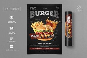 Rustic Burger Flyer