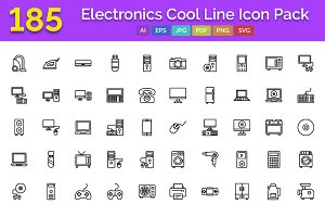 185 Electronics Cool Line Icons