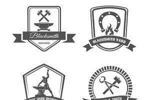 Blacksmith logo set