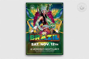 Brazilian Show Flyer Template
