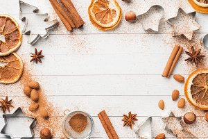 Ingredients for making  cookies.