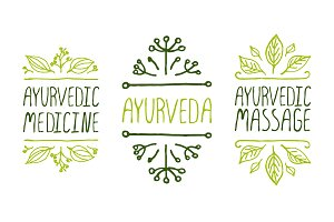 Ayurveda - Hand-sketched elements