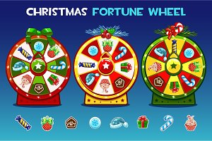 Christmas fortune wheel