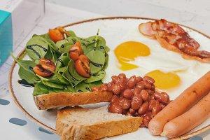 An english breakfast. Beautiful