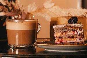 A bakery. A sweet breakfast. A piece