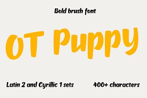 OT Puppy brush font