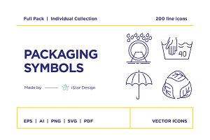 Packaging Symbols – Icons Set
